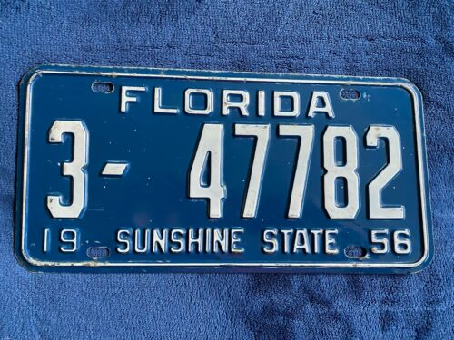 1956 Florida License Plate 3 47782