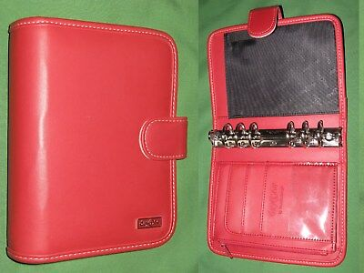 Compact 1.25 Red S Leather Franklin Covey 365 Planner Day One Binder 2180