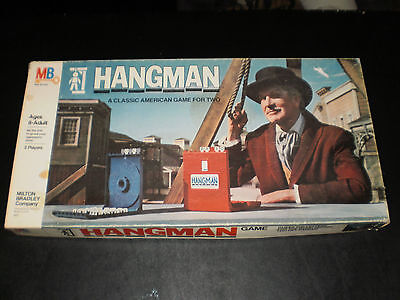 Hangman Milton Bradley 1976 Good  Condition