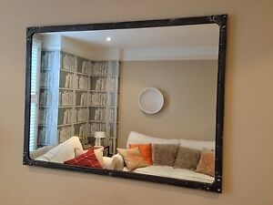 NEW Large Mirror Metal - Urban Vintage Industrial Rustic - Pewter colour finish