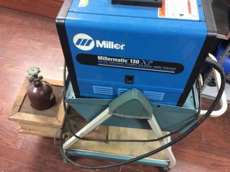 Miller Millermatic 130 XP Welder With Stand And Argon Tank