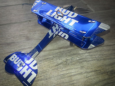BUD LIGHT Plane Airplane Made from REAL Beer cans! - Bud Light Made