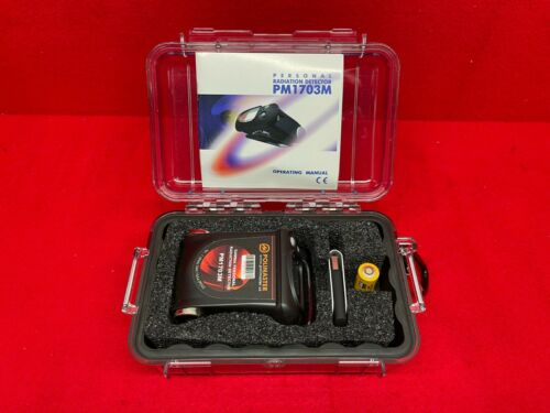 Polimaster PM1703M PDA Pager Radiation Detector Dosimeter NEW w/Holster Software