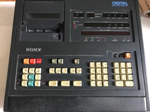 SONY DIGITAL DAQ-1000 CUE EDITOR SYSTEM KEYBOARD,ER