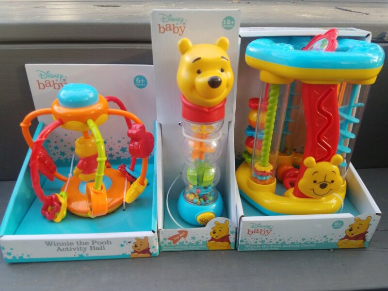 Disney Baby Winnie The Pooh Activity Ball Learning Rainmaker Toddler Rattle Toy