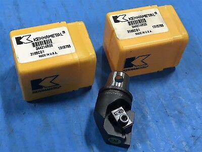 Lot Of 2 New Kennametal 344214r00 Tool Holder Cutting Unit 1315755 N10-812