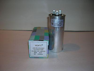 Run Capacitor-50 5 Mfduf-370440v-dual-ul Listed-venti Air-castor Oil - New
