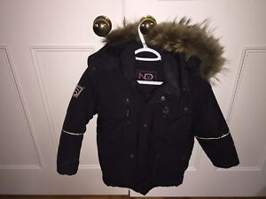 Natural Down Boys winter jacket, 100% real down, Size M (6-10)