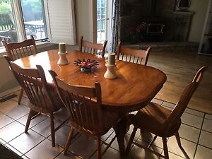 Ashley solid wood table