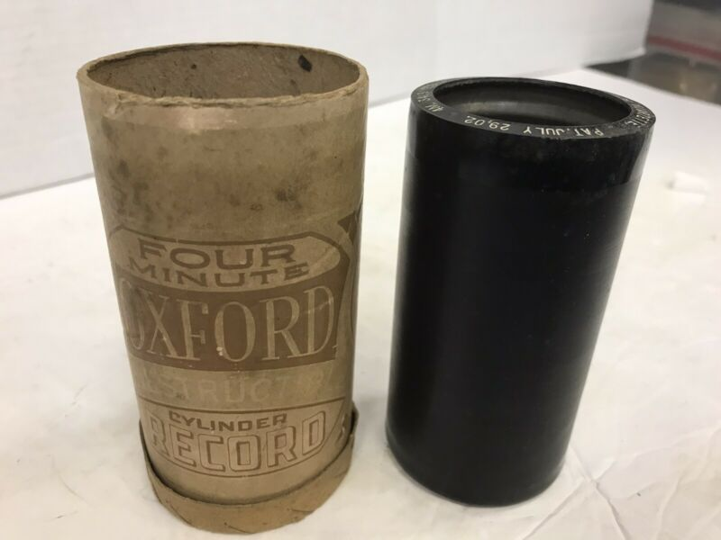"""OXFORD 4 MINUTE CYLINDER RECORD #3418 """"GOODBYE BROADWAY HELLO FRANCE QUARTETTE"""""""