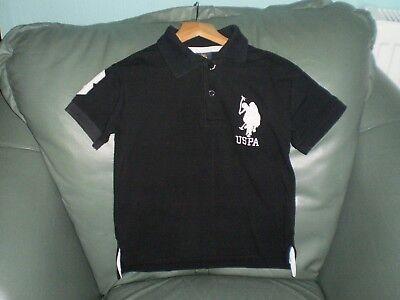 """Shirt """"U.S.Polo ASSN""""Baby Black Size: Age:5/6 Years Used  comprar usado  Enviando para Brazil"""