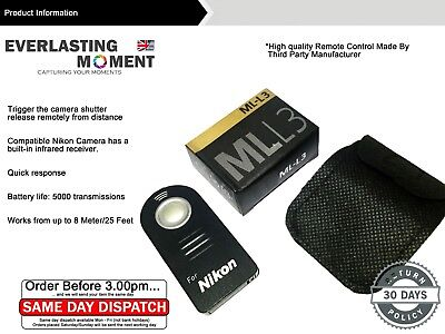 ML L3 WIRELESS REMOTE CONTROL in BOX FOR NIKON D7000 D3000 D5000 D90 D80 D70S