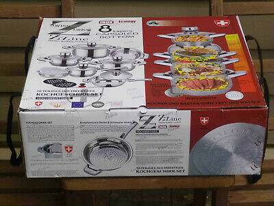 Swiss Zurich 16-piece Luxury Cookware set, 9 Layers capsulated Bottom, BRAND NEW