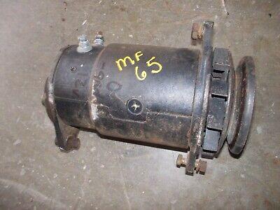 Massey Ferguson 65 Gas Tractor Good Working 12v Generator W Belt Drive Pulley