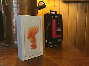 iPhone 6s 128 GB + Mophie battery case *COMBO*