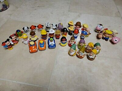 Mattel Little People Disney Lot 33 Dwarfs Snow White  Cinderella ++ lightly used Little White Lights