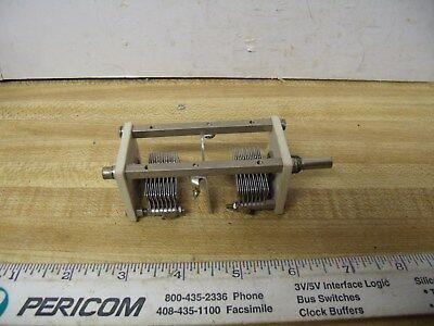 Variable Capacitors Dual 40 Pf 75 Pf 14 Inch Shaft Ham Radio