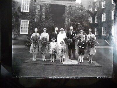 "Large 1920s Wedding photograph  10"" x 8"""