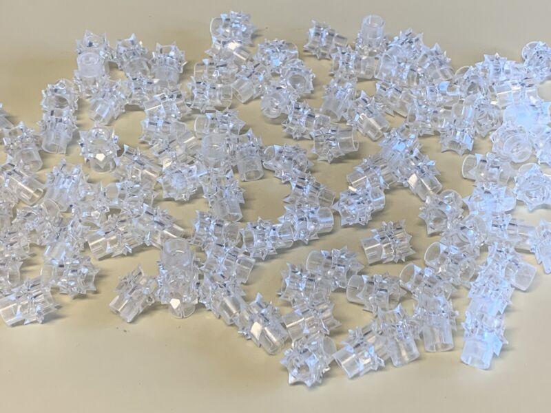 Vtg Starburst Atomic Star Christmas Light Covers Reflectors Clear Lot 100