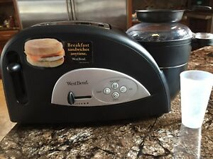 West Bend toaster and breakfast egg maker all in one