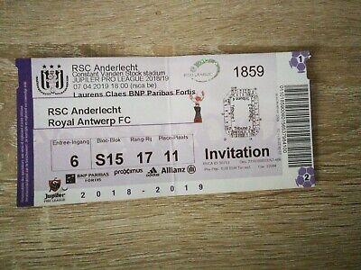 Ticket : RSC Anderlecht - Royal Antwerp 2018/2019 Play Off 1