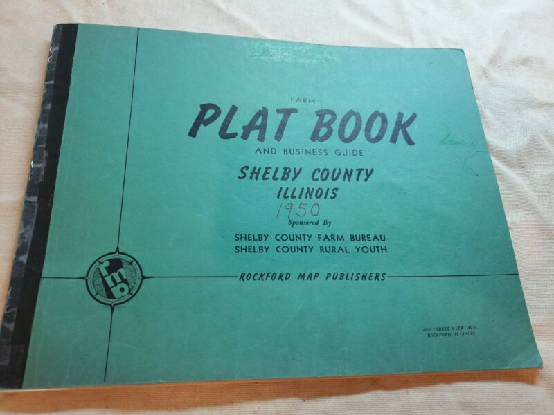 SHELBY COUNTY ILLINOIS Plat Book and business guide 1950  Edition