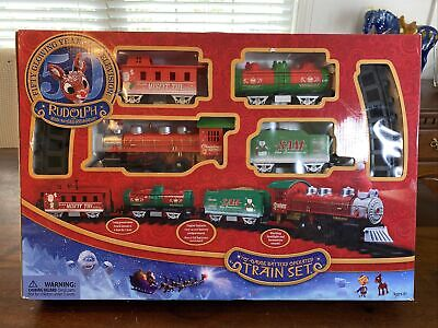 Rudolph The Red Nose Reindeer O-Gauge Battery Operated Train Set! Lights Sounds