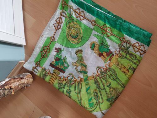 Damentuch Schal weiss grün groß Tuch