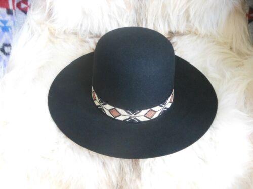 """Rolling Thunder - Medicine Man"" Handloomed Beaded Hatband/Indian Joe Hat"