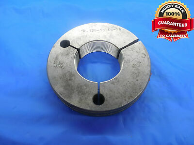 2 18 12 Un 2a Thread Ring Gage 2.125 No Go Only P.d. 2.0774 N-2a Quality
