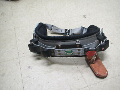 Buckingham Lineman Tree Climbing D-ring Body Belt Size 24 Nice
