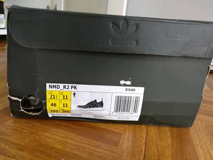 Adidas NMD R2 PK primeknit black and white 11.5