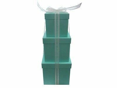 Nested Gift Boxes - Set of 3 for All Occasions - Gift Box Tower w/ Bonus Ribbon
