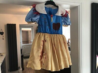Homemade SNOW WHITE Girls scary halloween costume 6-8 years Handmade - Homemade Halloween Costumes Girl