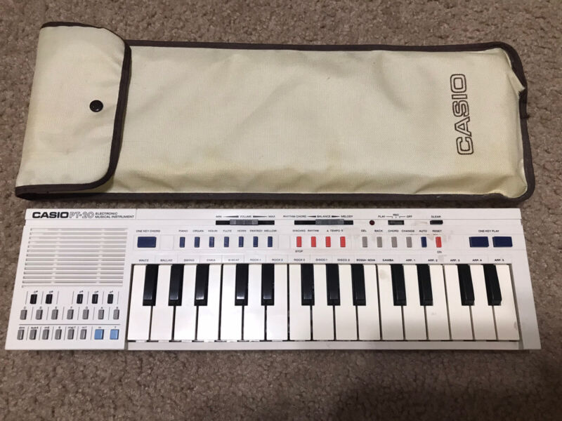 Vintage Casio PT-20 Electronic KEYBOARD Instrument Synthesizer Mini PT20