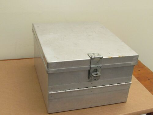 Aluminum Lock Box 5 lb weight 12.25 x 14.5 x 8