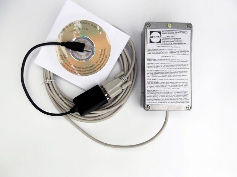 Infiltec QM-4.5V-20HZ  Seismometer detects nearby blasting, traffic, quakes