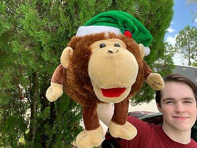 Joann Fabrics Singing Christmas Songs Monkey Hand Puppet Plush Toy SEE VIDEO ()
