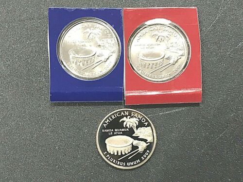 2009 P D S American Samoa Set Proof & PD Satin in Mint Cello or Wrap