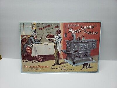 Uncle Sam Model Grand Range 16 x 10.5 Reproduction Tin Sign 1980's AAA Sign Co.  for sale  Elyria
