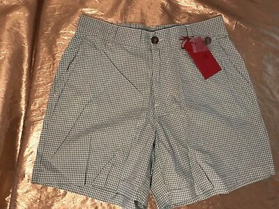 NWT Men's Southern Proper Green Gingham Check 3 Pocket Shorts Cotton Size (Green Gingham Shorts)
