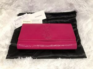 Authentic YSL Clutch- Hot Pink