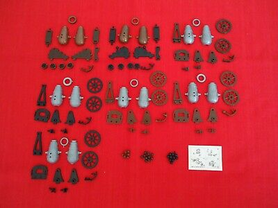 Ü-Ei/70-er Jahre/altes Spielzeug/7 Kanonen/7 Varis/Räder/Muster/28 Kugeln/+BPZ ()