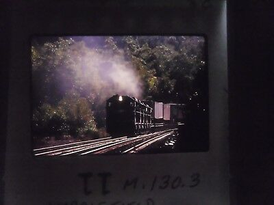 Original Slide Train RR PA Middlefield TV-9 Freight car pass curve line jct turn
