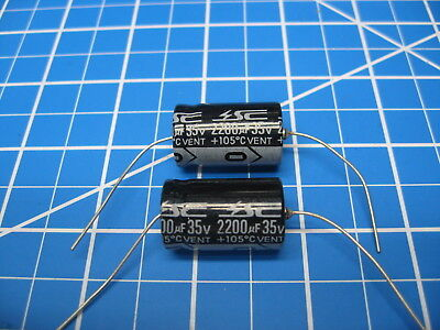 Sc - Gha Series - Axial Electrolytic Capacitors - 35v 2200uf - 2 Pieces