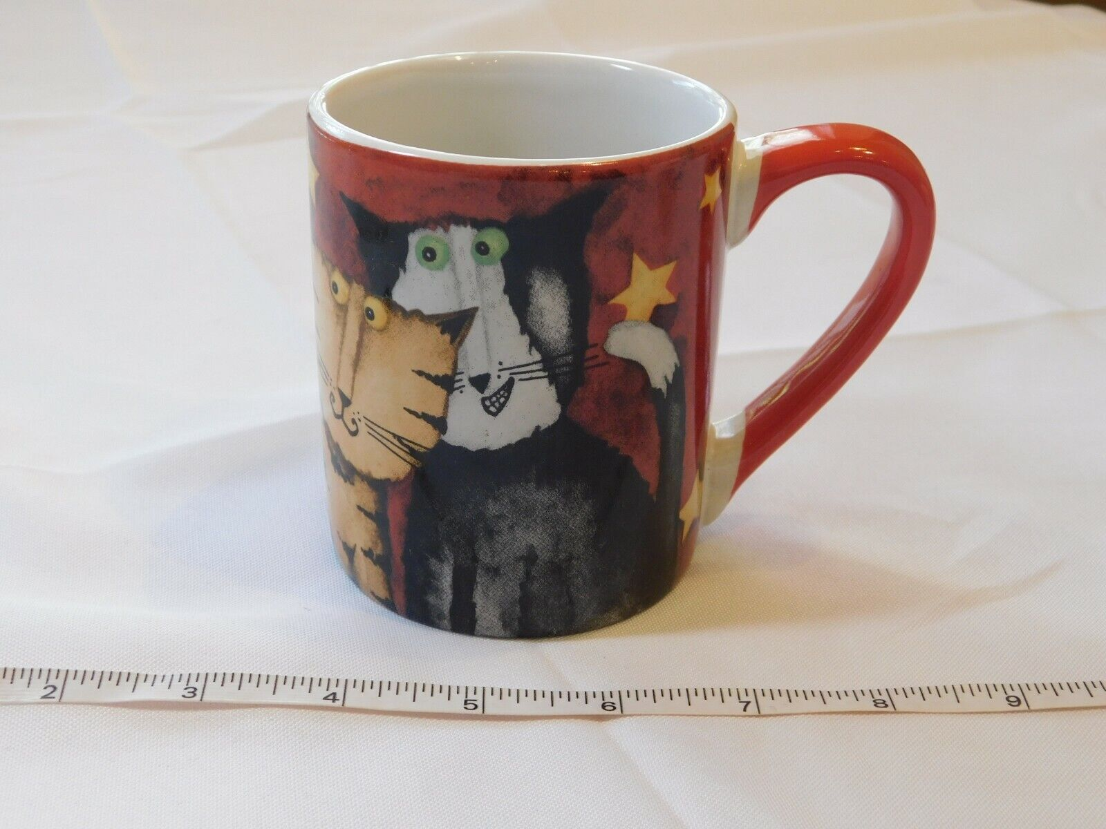Everyday Gibson DH Cool Cats 60379.01 Kitties Cats Coffee Mug Soup Cup Pre-owned