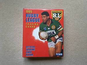 NRL Trading Cards 1995 - Series 1 & 2 - 440 cards plus folder Rivett Weston Creek Preview