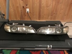JDM Honda Integra Type-R Black Housing HID Headlights