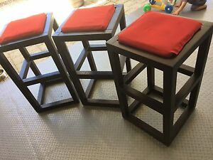 3 Timber bar stools Safety Bay Rockingham Area Preview
