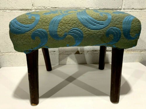 Antique Handmade Primitive Foot Stool By Adam Becker 1878